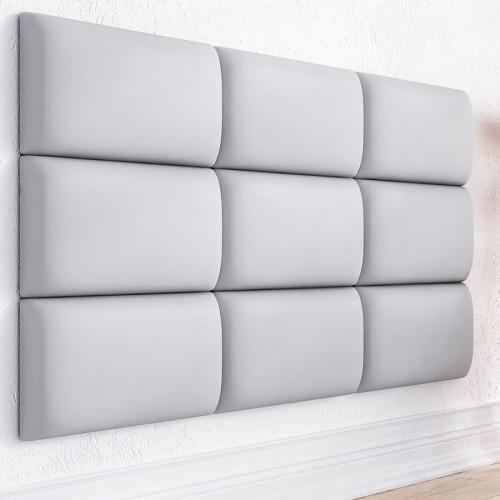 Białe Panele Na ścianę Dekoracyjne 50x30 Zagłówek Do łóżka