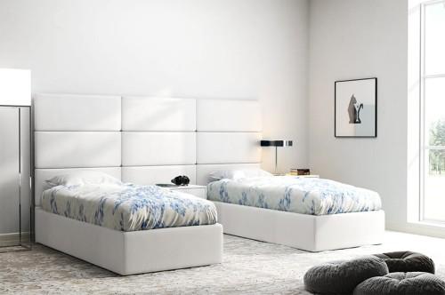 Białe Panele Tapicerowane Italia 60cm X 30cm Zagłowie