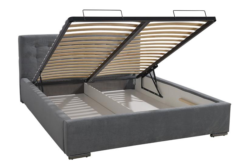 łóżko Tapicerowane Barcelona 160200 Szare
